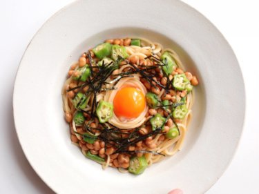 【最高に美味しい!】オクラと納豆のまかないパスタのレシピ