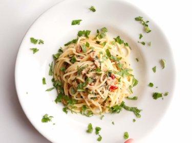 【簡単!】ツナと大葉のさっぱりペペロンチーノのレシピ
