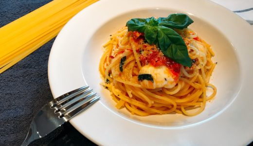 【バジル香る!】モッツァレラとトマトのパスタ