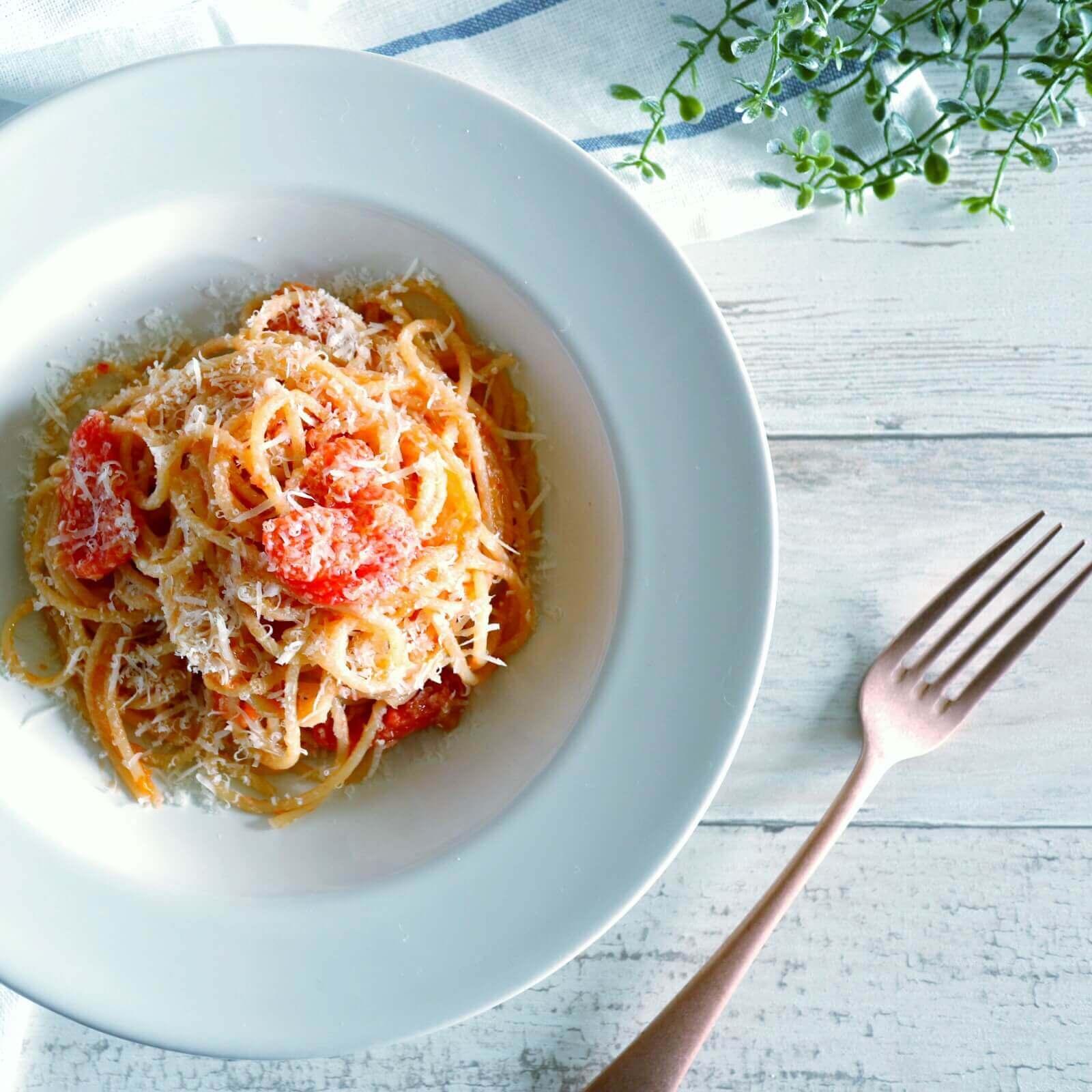 ずぼらさんのトマトパスタ