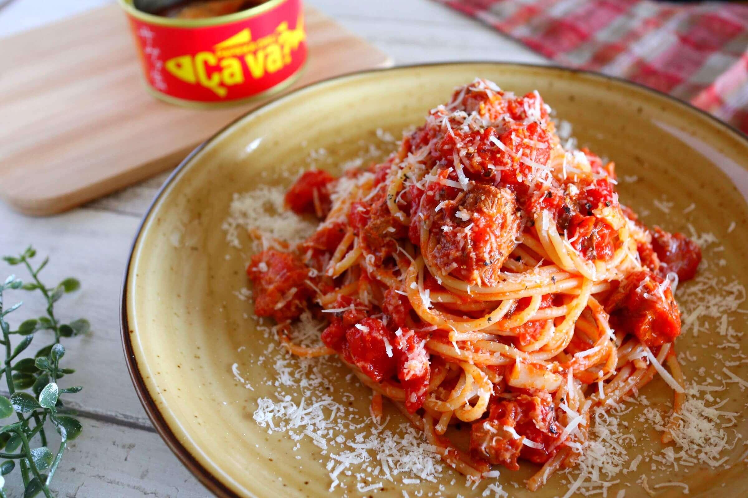【激うま!】鯖缶トマトパスタ(サヴァ缶ver)のレシピ
