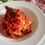 ツナのトマトパスタ