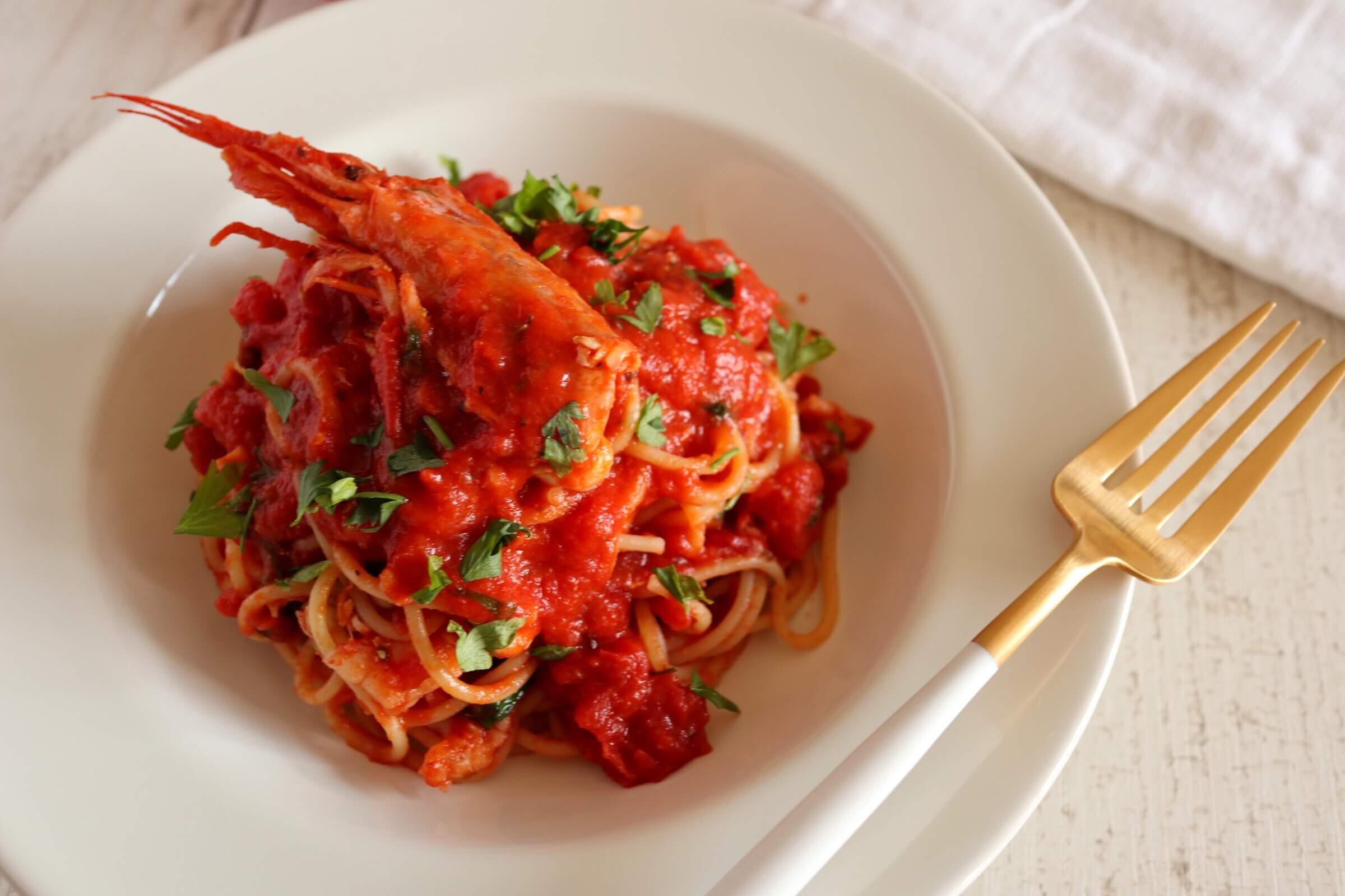 赤海老のトマトパスタ