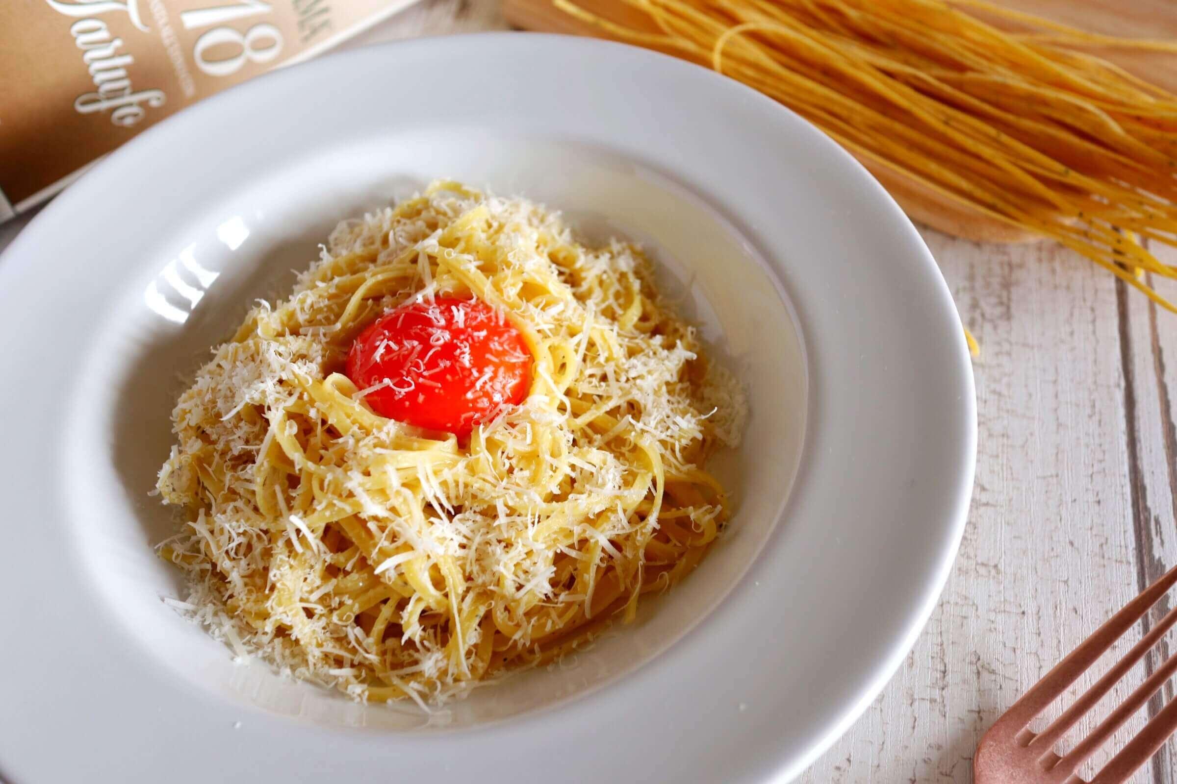 【絶品!】カルボナーラ仕立てのトリュフパスタのレシピ