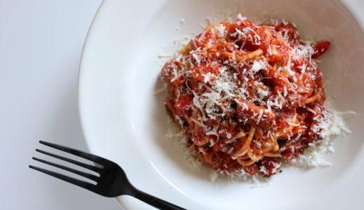 【旨み溢れる!】ベーコンとマッシュルームのトマトパスタ