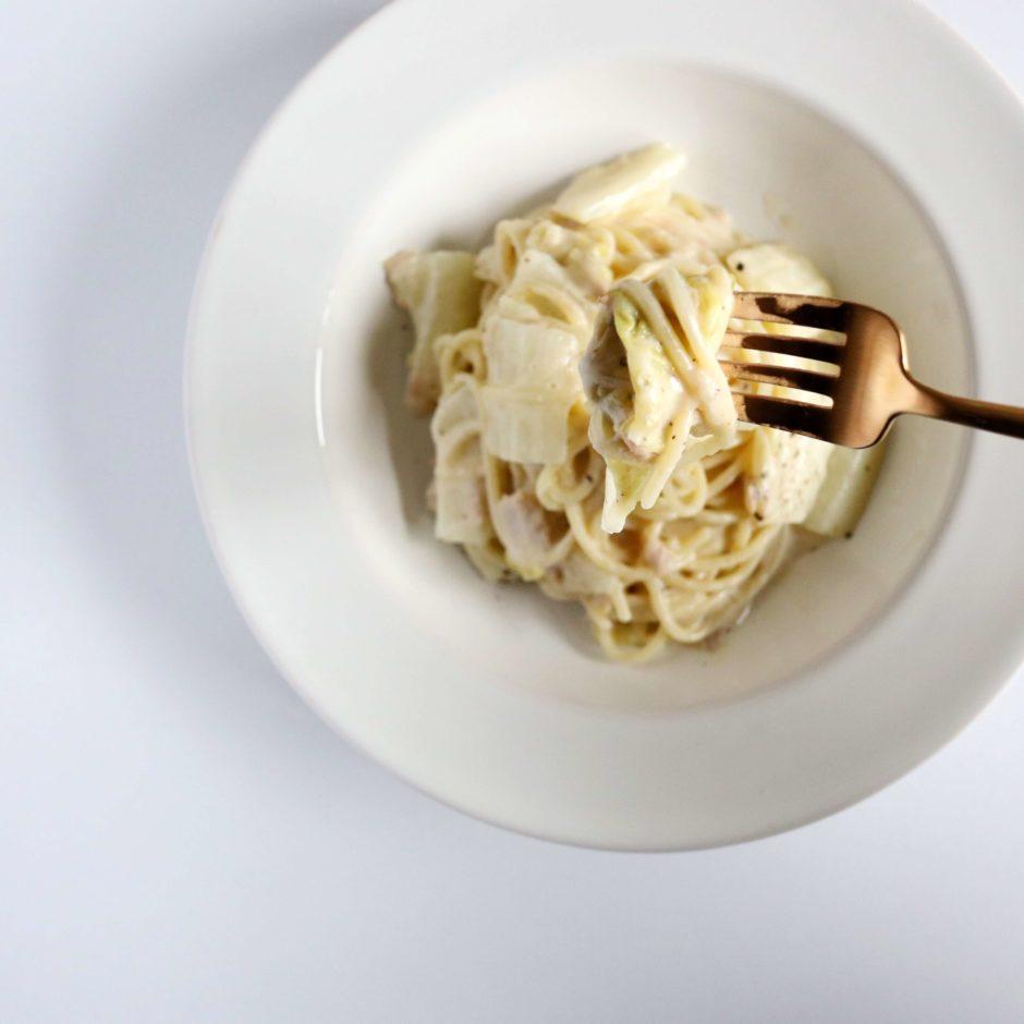 ツナと白菜の和風クリームパスタ