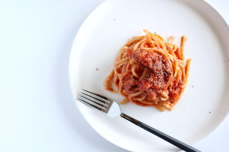 【生クリーム不要!】酒粕トマトクリームパスタのレシピ