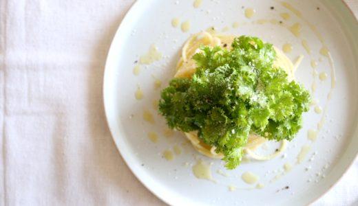 【フライパン不要!】わさび菜のサラダパスタ