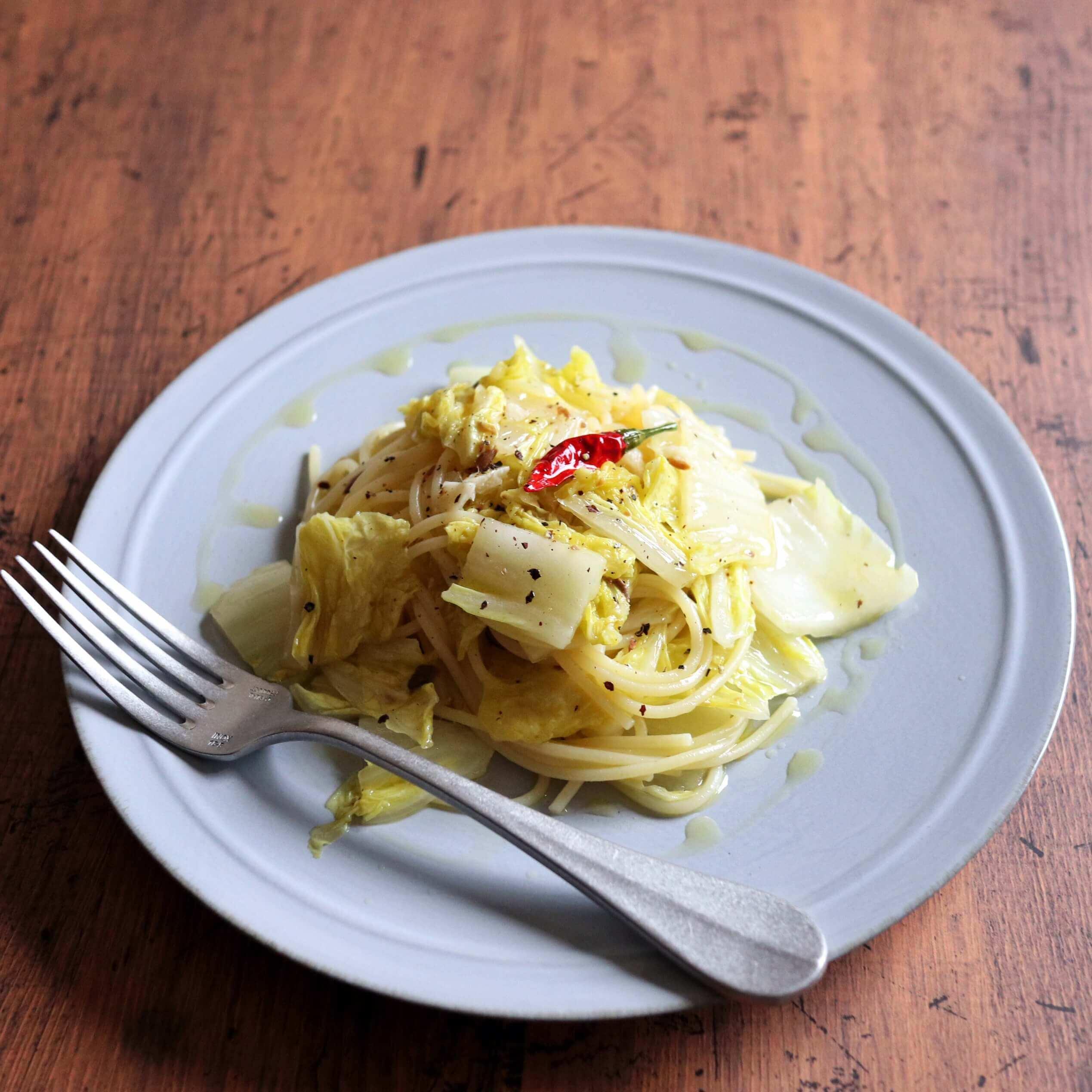 【簡単美味しい!】白菜のアンチョビパスタのレシピ