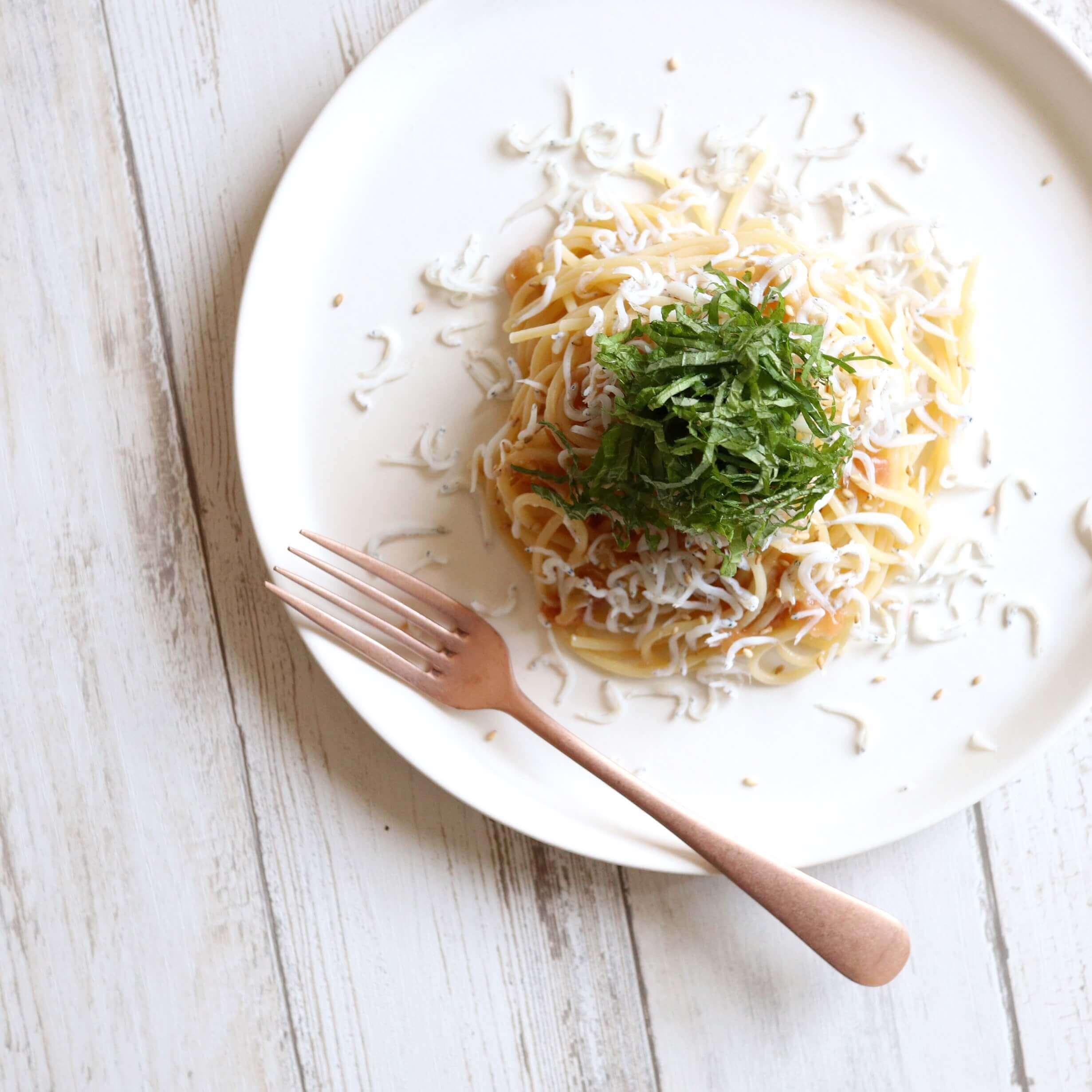 【混ぜるだけ】しらすと梅干しのパスタのレシピ