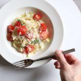 トマトとセロリのサラダパスタ