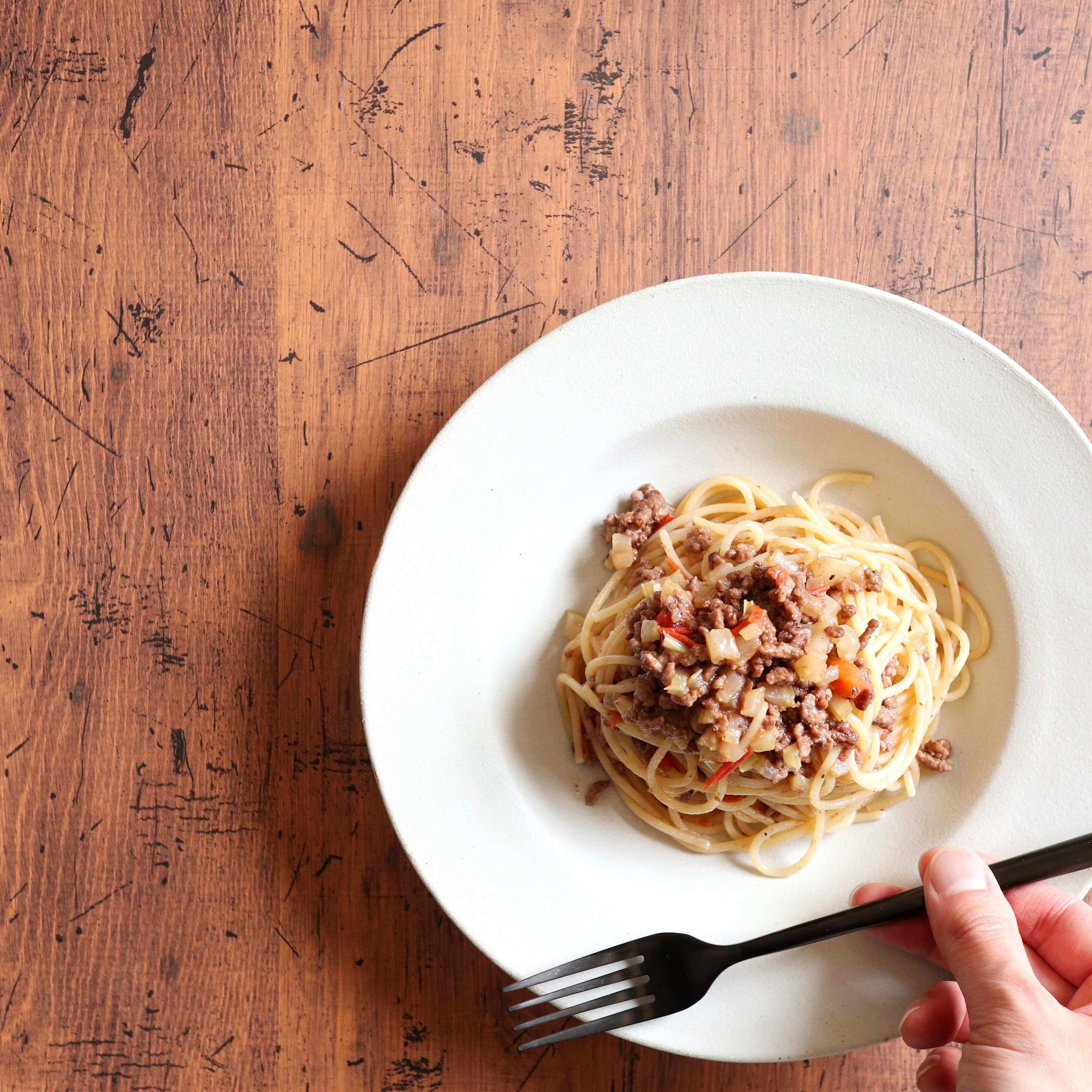 【絶品!】挽肉と余り野菜のパスタのレシピ