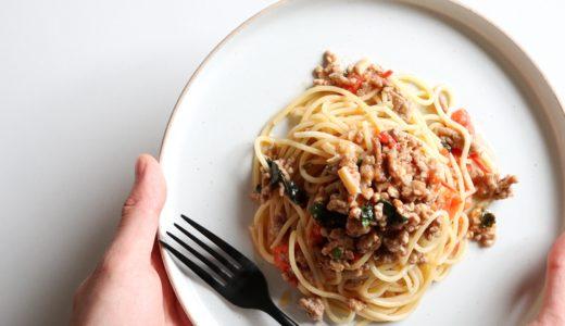 【絶品!】豚ひき肉とトマトのガパオパスタのレシピ