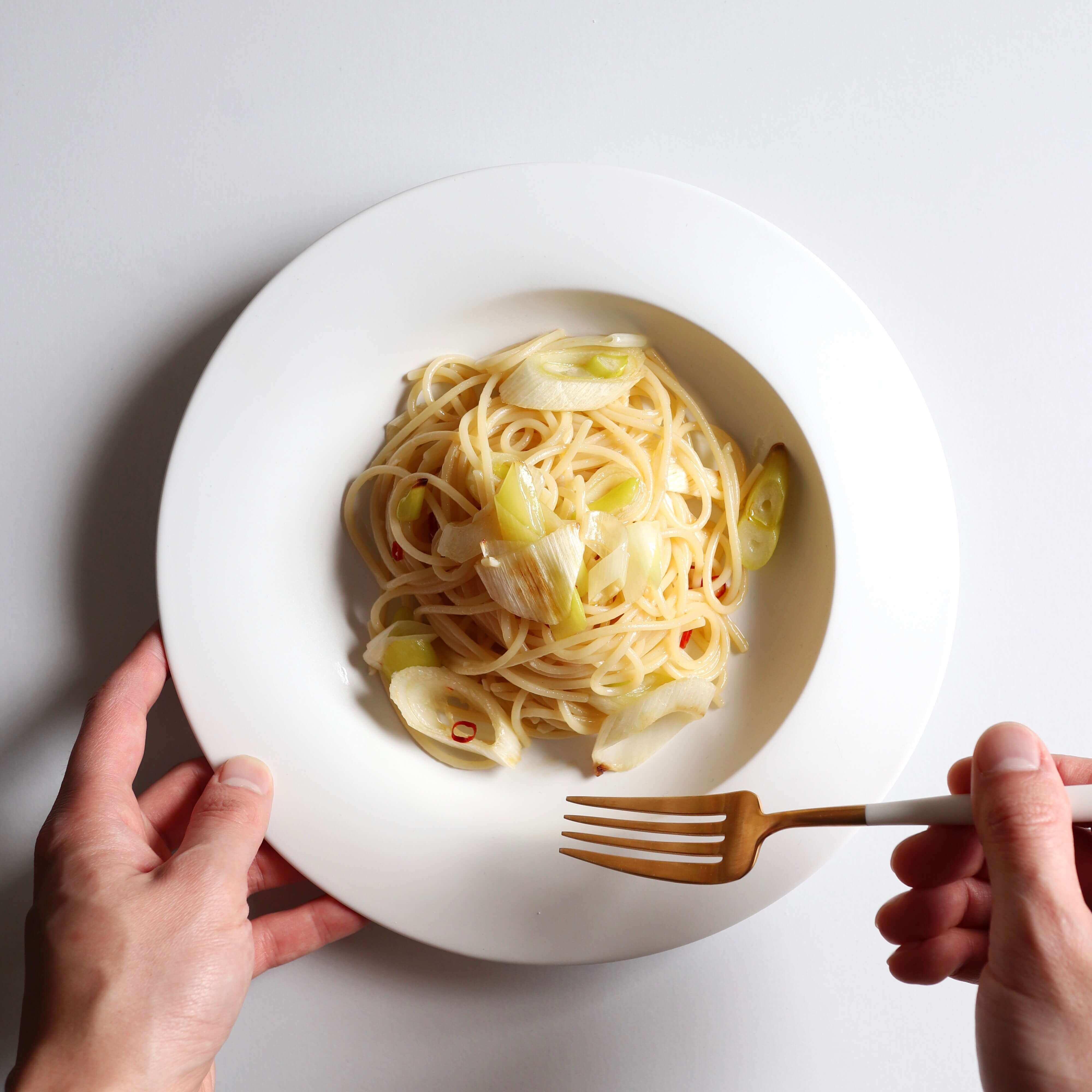 【トースターで簡単】千住葱のペペロンチーノのレシピ