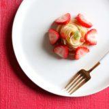 苺のケーキパスタ