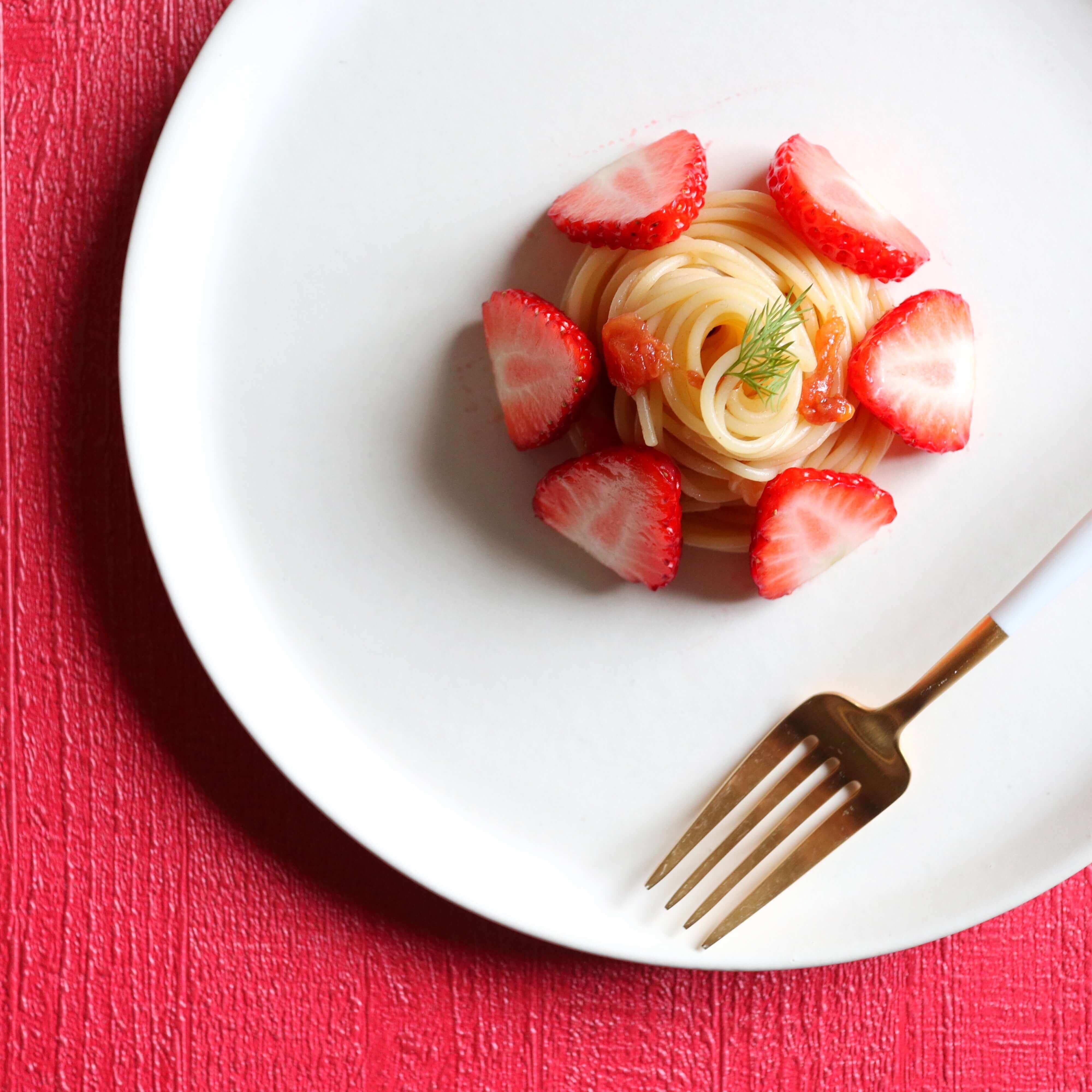【特別な日に!】苺のケーキパスタのレシピ