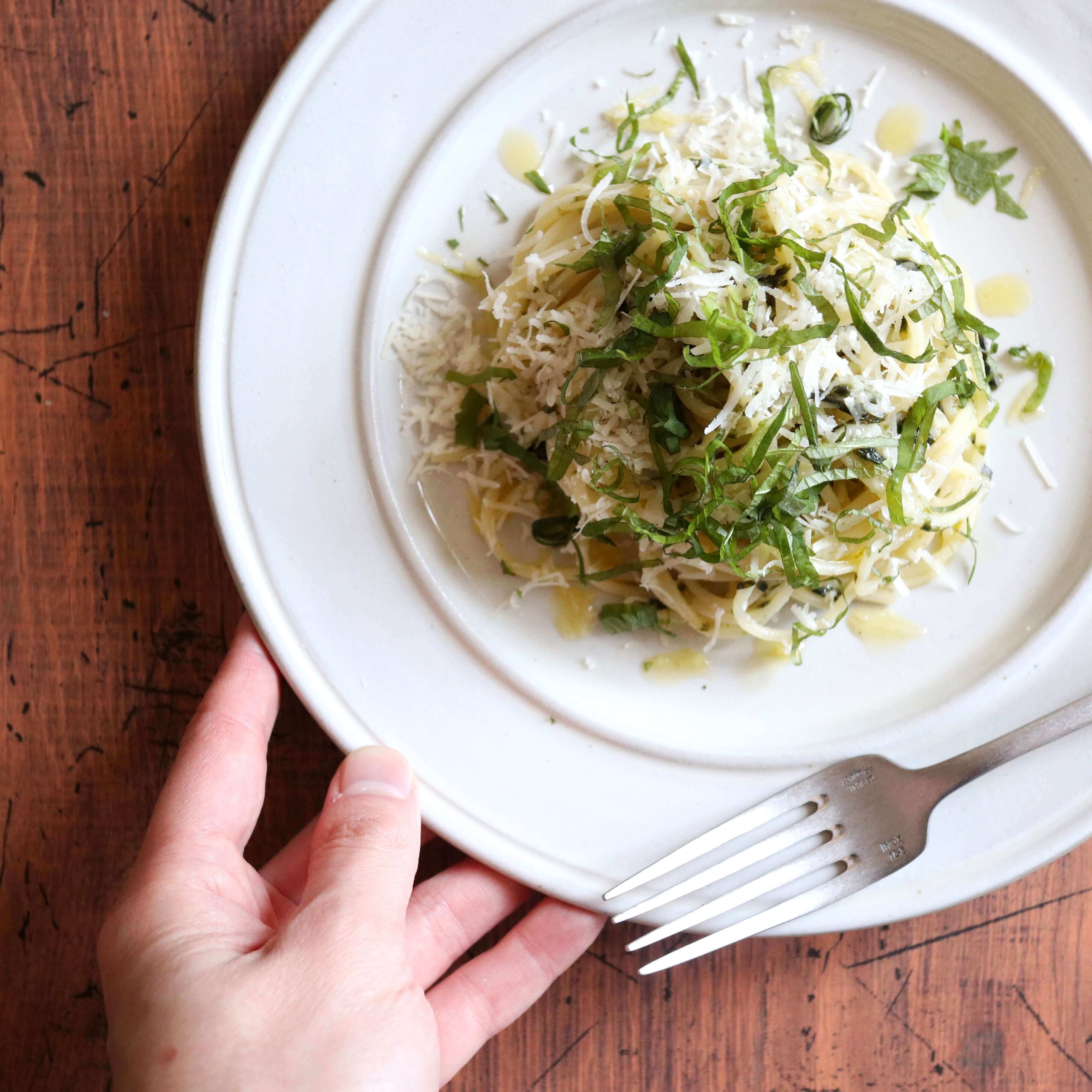 【超簡単!】海苔チーズパスタのレシピ