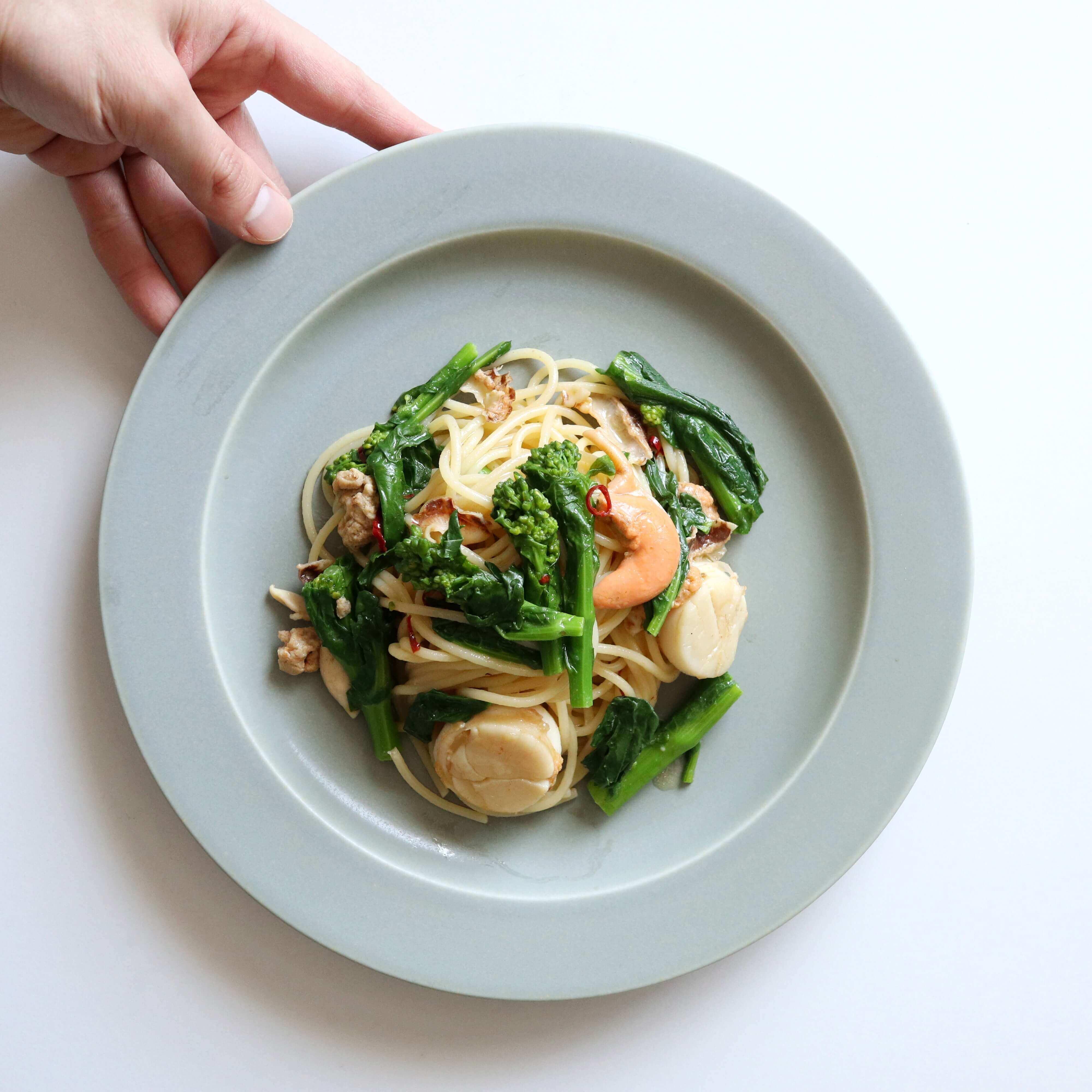 【大絶賛!】菜の花とホタテのペペロンチーノのレシピ