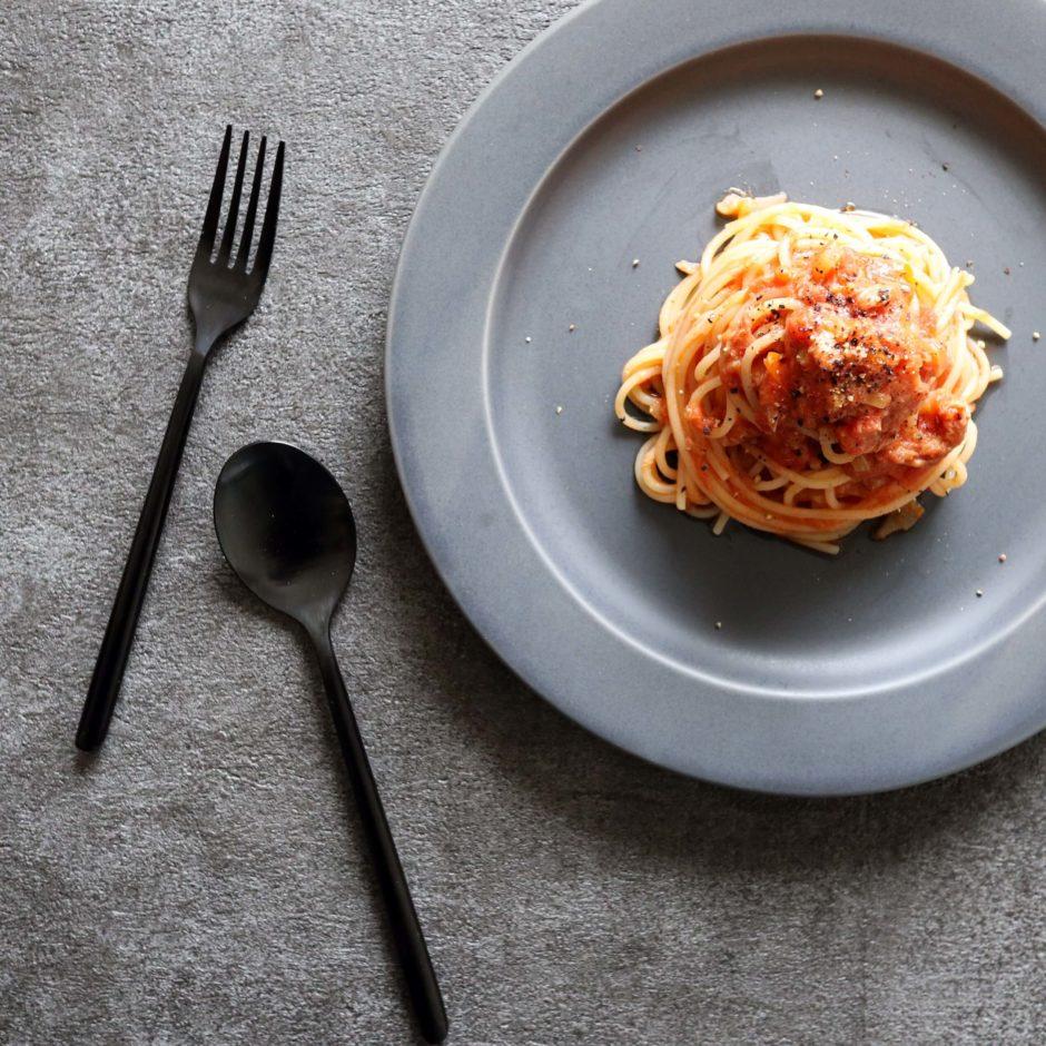 金柑とツナのトマトパスタ