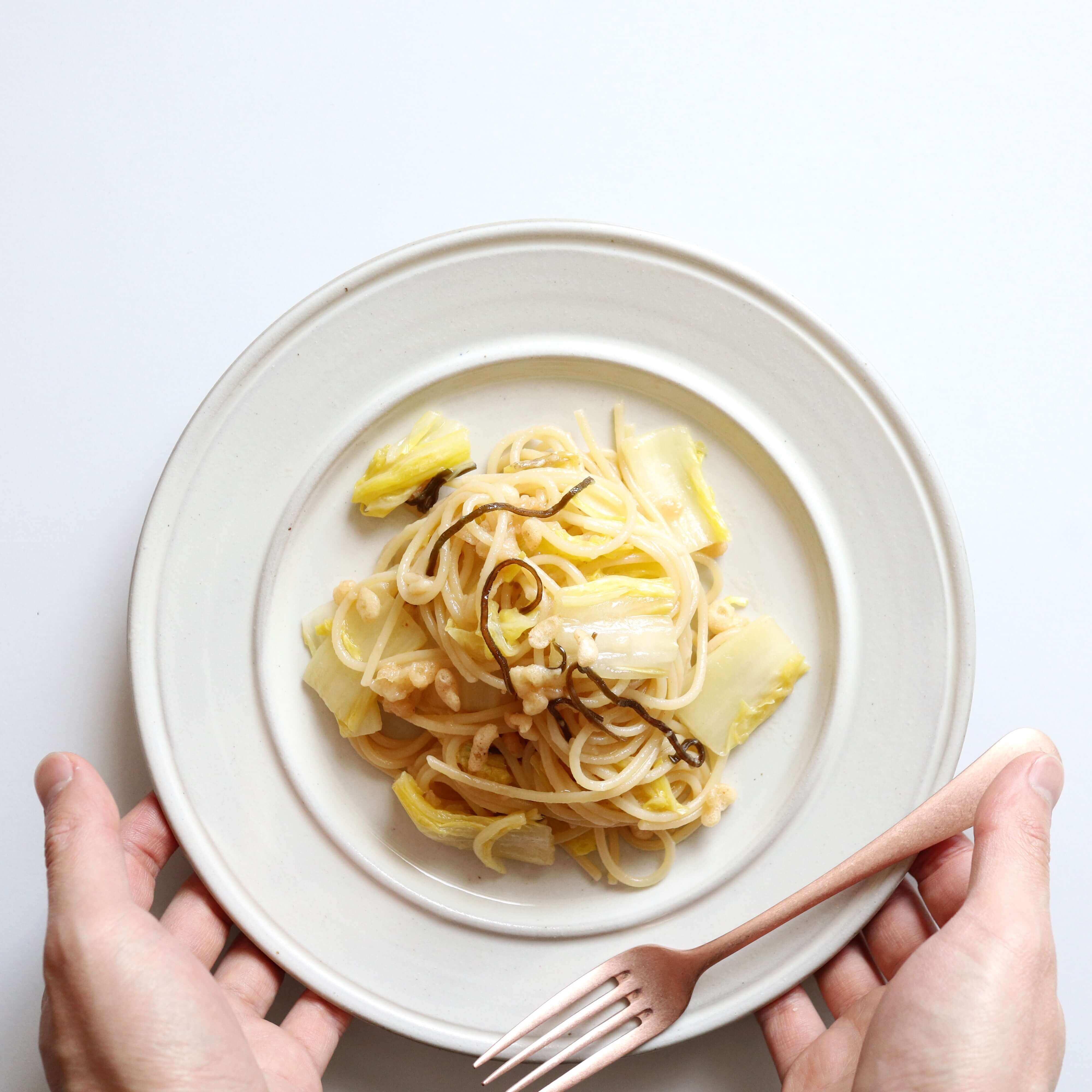 【簡単に美味しい】白菜と塩昆布の和風パスタのレシピ