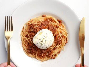 【大絶賛】ブラータチーズのボロネーゼのレシピ