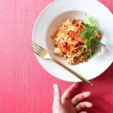 赤海老のエスニック風トマトパスタ