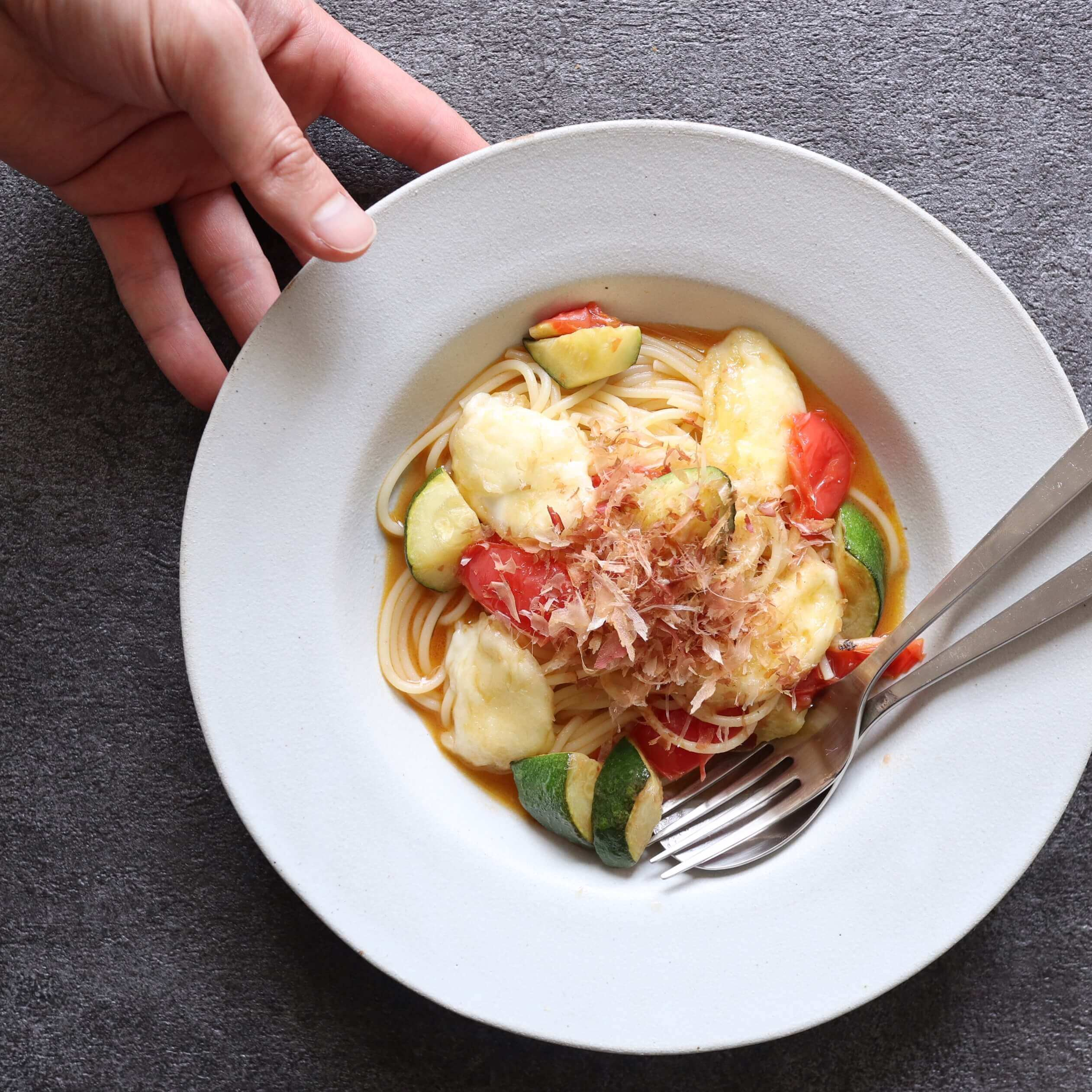 【絶品!】揚げ出しモッツァレラの創作和風パスタのレシピ