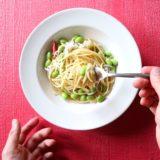 枝豆としらすのペペロンチーノ