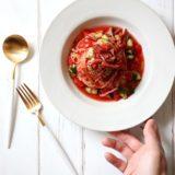 ガスパチョ風トマトの冷製パスタ