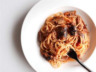 【旨辛!】秋刀魚のアラビアータのレシピ