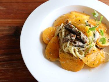 【絶品!】柿と鰯のオイルパスタのレシピ