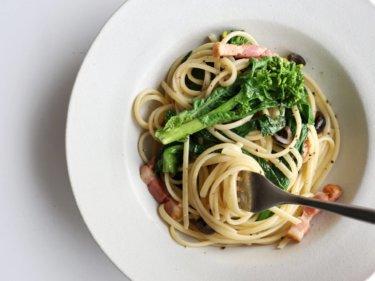【休日ランチに!】菜の花とオリーブのパスタのレシピ