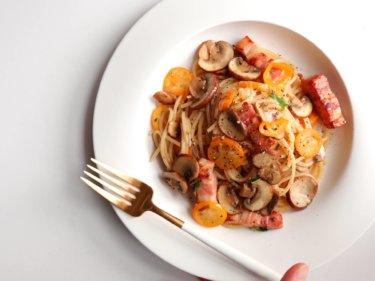 【季節の味!】金柑とマッシュルームのオイルパスタのレシピ