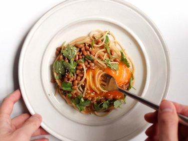 【ラブパクで簡単】パクチーと納豆のパスタのレシピ