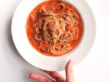 【牛乳消費に!】簡単トマトクリームパスタのレシピ