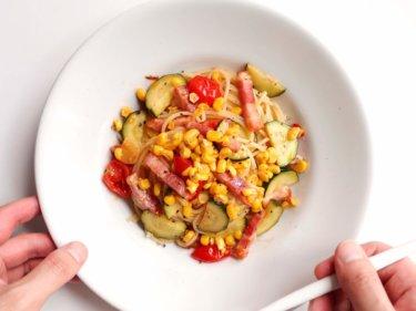 【野菜たっぷり】夏野菜のオイルパスタのレシピ