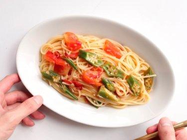 【蓋して簡単!】オクラとトマトの夏パスタのレシピ