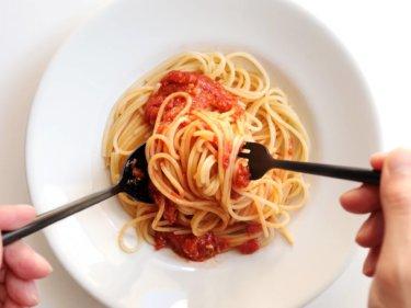 【待つだけ簡単!】トマト味噌パスタのレシピ