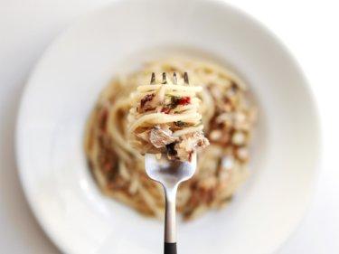 【人気の味!】オイルサーディンと大葉の和風ペペロンチーノのレシピ