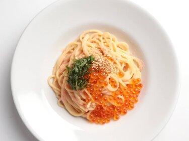 【贅沢ランチ】いくらと明太子のパスタのレシピ