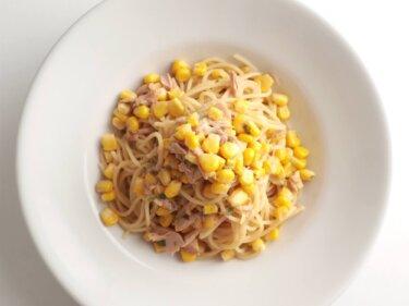 【混ぜるだけ】ツナとコーンのバター醤油パスタのレシピ