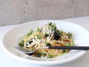 【絶品!】しらすと乾燥わかめのペペロンチーノのレシピ
