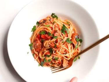 【思わずニヤける】鯖缶トマトパスタのレシピ